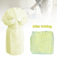 DHL Ship Disposable Protection Gowns Non- woven Protective Is...