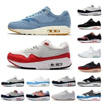 2019 Nike Air Max 1s Mens Running Shoes Tongue Pull Tabs white What The OG Anniversary Centre Pompidou Men Runner Trainer Sports Sneakers