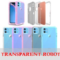 Clear Robot Armor Case For Iphone 11 Pro Max 6 7 8 Plus XS M...