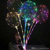 31.5inch 스틱 3M 문자열 풍선 LED 라이트 크리스마스 할로윈 생일 풍선 파티 장식 보보 풍선 BH1346 TQQ와 LED 보보 풍선