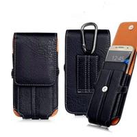 Para Iphone XR XS MAX X 8 7 6S plus Funda universal de lujo Clip de cinturón Cintura Hombre Funda de cuero para teléfono Funda para samsung S8 S9 PLUS nota 8 9