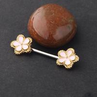 316L Paslanmaz Çelik Çiçek Meme Halter Helis Piercing Seksi Bar Yüzükler Vücut Takı Pircing Mücevherat Kadınlar Hediye