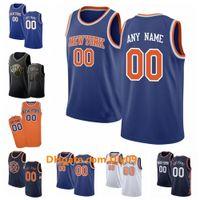 Personalizzato New York.Knicks.Uomini Donne Kid Personalizzato Nome Numero Jersey 9 Barrett 6 Porzingis 13 Noah Pallacanestro Maglie Bianco nero blu
