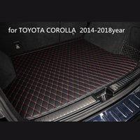TOYOTA COROLLA 2014-2018year araç kaymaz mat için özel bir anti-patinaj deri araba bagajı paspas paspas uygun