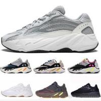 Kanye West 700 scarpe da corsa runner d'onda per le donne degli uomini 700s V2 scarpe da ginnastica sportive statiche malva scarpe da lavoro di lusso grigie di lusso taglia 36-45