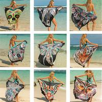 12 stili donne bikini cover up scialle ali di farfalla stampa sexy Pareo Sling Wrap Beach Dress con scollo a V aperto indietro Bohemian Swimwear Dress