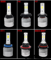 2pcs / lote Coche LED Faros de alta calidad Envío gratis 72W 8000lm 6500k