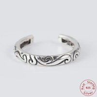 Authentic 925 Sterling Silver Retro Ring Regal Pattern Swirl...