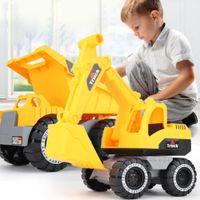 Clássico Simulação bebê Engenharia escavadora Trator do camião basculante modelo de carro de brinquedo Mini Presente 3 Pcs / set Atacado
