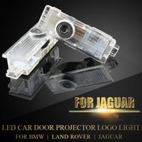jaguar f-type bmw 미니 랜드 로버 무선 프로젝터 레이저 고스트 섀도우 램프 플러그 플레이어를위한 자동차 로고가있는 LED 도어 예의 빛