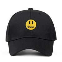 drew house Justin Bieber Dad Hat 100% Cotton Smiley face DRE...