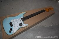 New Arrival Custom Guitar F SSS Distressed blue 6 Strings na...