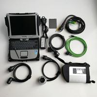 أداة التشخيص MB Star C4 مع Laptop Toughbook CF19 لتدوير جهاز الكمبيوتر التشخيص مثبتة جيدا أحدث ناعم Ware V03.2021