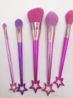 marque maquillage brosses ensembles cosmétiques brosse 5 pcs ensemble des couleurs vives sirène maquillage brosse outils outils poudre contour brosses DHL livraison gratuite