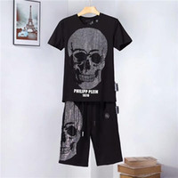 2019 new men' s short- sleeved hip hop T- shirt + shorts s...