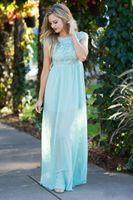 Страна боковых подружек невесты платья 2020 новый мята зеленый шифон линия горничная честь платья Pliats длина дола халат де Марие