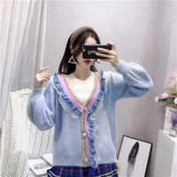 Women Sweater 2018 Autumn Janpan Fashion Knitwear Preppy Sty...