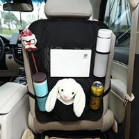 المقعد الخلفي منظم السيارات ركلة ماتس السيارات المقعد الخلفي حامي 5 جيوب التخزين المقعد الخلفي حقيبة المنظم للأطفال لعبة السيارات زجاجة شراب