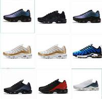 Yeni Buharı Tn Artı Sneaker Geometrik Aktif Fuşya Ruh Teal Koşu Ayakkabı Yastık Tasarımcı Ayakkabı Yeşil Erkek Kadın Trainer maxes Boyut 12