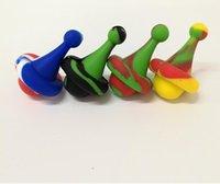Capuchon en silicone Capuchon Coloré Bubble 4 Types de bouteille Dôme Fumeurs Accessoires Outils pour Bongs en verre Tuyaux d'eau Tuyaux d'eau Bangers Nails Nails