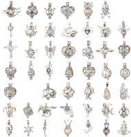 Mix 60 Style cage IN STOCK 18kgp love wish gabbia per perle ciondolo all'ingrosso ciondolo ciondoli pendenti, fai da te collana di perle pendenti di fascino montaggi
