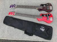 Personalizzato 4 stringhe multi colore Hofner Shorty Basso Viaggi chitarra Protable Mini Electric Bass Con Borsa in cotone Gig, trasporto di goccia