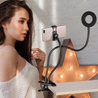 IPhone Android için Cep Telefonu Mobil Tutucu Canlı yayın Makyaj Fotoğraf Kamera Lambası ile Fotoğraf Stüdyosu Selfie'nin LED Halka Işık