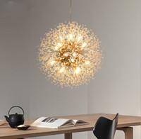 볼 LED 샹들리에 조명 민들레 샹들리에 이닝 거실 바 성격 창조적 인 예술 크리스탈 램프 LLFA 불꽃