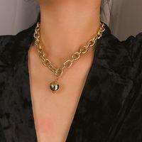بسيط معدن الكرة المستديرة قلادة القلائد الشرير المبالغة قصيرة سحر قلادة الصليب سلسلة عظم الترقوة سلسلة البلوز المرأة الإكسسوار مجوهرات