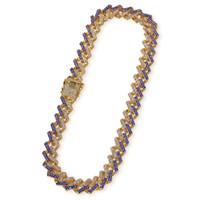 15mm Bling Euro ausgeschnitten Kristall Miami Kubanische Tenniskette Gold Silber Halskette Heißer Verkauf des Hiphop King Großhandel Schmucksachen