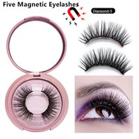 Five Magnetic lashes set With mirror 5 Magnetic eyelashes Na...