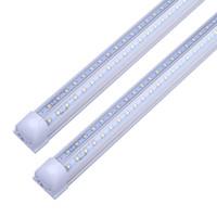 V 모양 2피트 3피트 4피트 5피트 6피트 8피트 주도 튜브 라이트 T8 통합 주도 튜브 더블 사이드 SMD2835 LED 형광 조명 AC100-240V 무료 배송