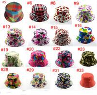 Basin Fisherman Cap Topee Kids 2-5 Years Flower Grid Print Bucket Hat Casual Travel Caps Summer Beach Outdoor Hat Wide Visor 40 Style B71602
