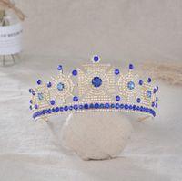 Другая внешняя торговля Высококачественная европейская и американская ювелирные изделия невеста свадьба Zircon Crown Headdress волос аксессуары