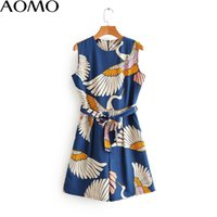 AOMO jumpsuits for women 2020 fashion women birds print play...