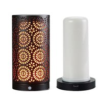 LED Flame Effect Light USB Rechargeable Table Lamp with Magn...