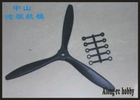 Freies Verschiffen 4 Stück 3 Klingenpropeller (8 * 6 oder 9 * 6 oder 10 * 6 oder 11 * 7) für RC-Ebene-Flugzeug-Flugzeugmodell-Ersatzteil