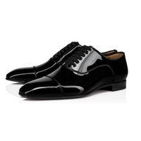 أحذية Corteo Orlato الرجال اللباس أحذية الأحمر أسفل المسامير حذاء رياضة أسود جلد أحذية قماشية الرجال الحزب متعطل شقة مع صندوق EU47