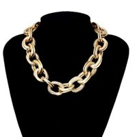 Другие европейские и американские ювелирные изделия Простая панк-уличная стрельба металлическая цепь предмета женщины преувеличенные круглые кросс ожерелье