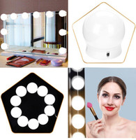 10 Pcs Vanity LED Mirror Light Makeup Adjustable Comestics M...