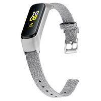 Ремешки для наручных часов для Samsung Galaxy Fit-E R375 Мода Холст Замена ремешок + металл рамы 94006