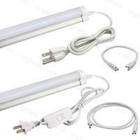 Aydınlatma Aksesuarları T5 T8 Bağlayıcı Kablo Uzatma Kablosu Anahtarı Güç Ile ABD Fiş PVC Tel Entegre LED Tüp Işıkları Için DHL