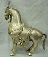 La Cina tibet d'argento statua del cavallo