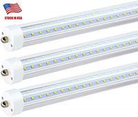 T8 LED tubos de luz 8 pés 7000LM 72W dupla fileira FA8 R17D AC85-265V 384LEDs 2835SMD bulbos fluorescentes 2.400 milímetros Direto da China Factory