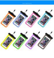Saco impermeável ao ar livre pvc plástico caso seco esporte celular proteção universal celular phone case para telefone inteligente sob 6,5 polegadas