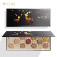 Neue 11 Farben Sterne Elk Wet Soft Lidschatten-Palette Shimmer Matte Lidschatten Schlamm Smoky Eye Make-up Anhaltende kosmetische Werkzeuge