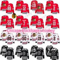 2019 New Winter Classic Chicago Blackhawks Jersey 19 Jonathan Toovs 88 Patrick Kane 12 Alex Debrincat 2 Duncan Keith Mens Hóquei Jerseys