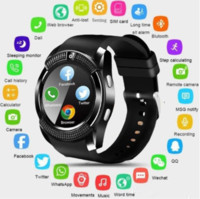 V8 Smart Watch Armband-Uhrenarmband mit 0.3M Kamera SIM IPS HD Full Circle anzeigen Smart Watch für Android-System mit Box