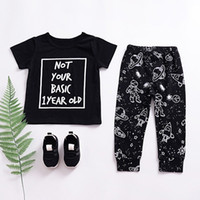 Summer Baby Boys Set Toddler Infant Cotton Letter Print T- sh...