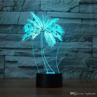 LED presente Xmas Lamp LED Palmeira Modeling NightLight USB 3D abajur Moda Quarto Luminaria Decor cabeceira Baby Sleep luminária Kid